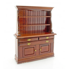 Kitchen Mahogany Cupboard Cabinet Dollhouse Furniture