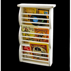 White Bookshelf Book Magazine Rack Dollhouse Furniture