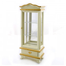Victorian Gold White Wood Cabinet Dollhouse Furniture