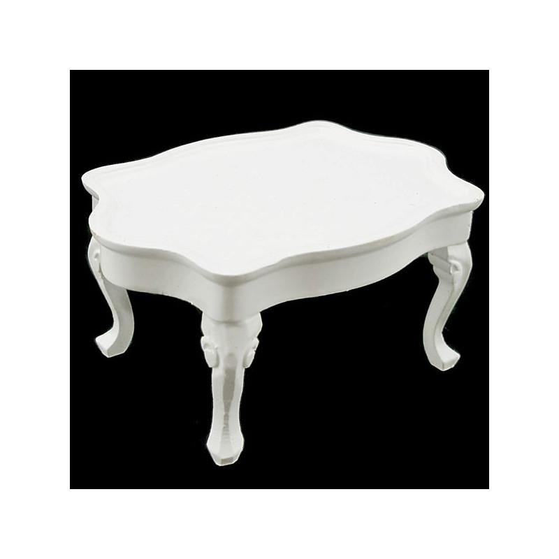 White Victorian Queen Ann Table Dollhouse Furniture