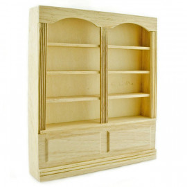 Wood 8-Layer Book Cabinet Bookcase Dollhouse Furniture