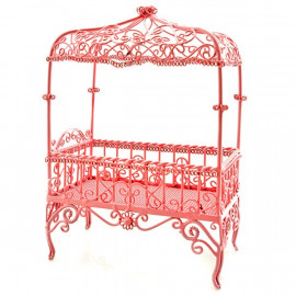 Victorian Pink Wire Bedroom Bed Dollhouse Furniture MIB
