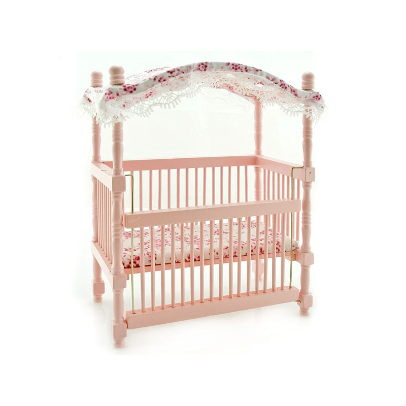 Nursery Baby Room Canopy Crib Dollhouse Furniture