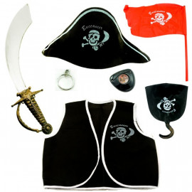Set Kids Toddlers Seas Pirate Captain Halloween Costume
