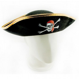 Pirate Captain Adult Toddler Skull Hat Party Costume