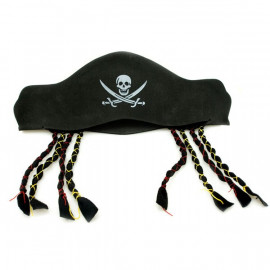 Pirate Adult Toddler Skull Hat Foam Braid Party Costume