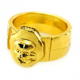 Golden Pirate Captain Toddler Skull Ring Party Costume