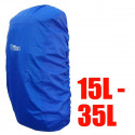 BlueField Backpack Rain Cover 15L to 35L BLUE (Small)