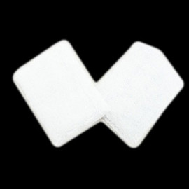 Sports Wristband Pair (White)