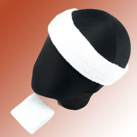 Sports Sweatband Set (White)