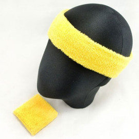 Sports Sweatband Set (Yellow)