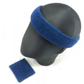 Sports Sweatband Set (Dark Blue)