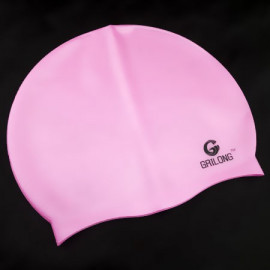Silicone Swim Cap (BABY PINK)