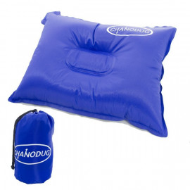Self Inflatable Pillow (Large) (BLUE)