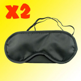 2x Travelling Eye Mask (BLACK)