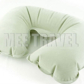 Flocked Travel Pillow (GREY)