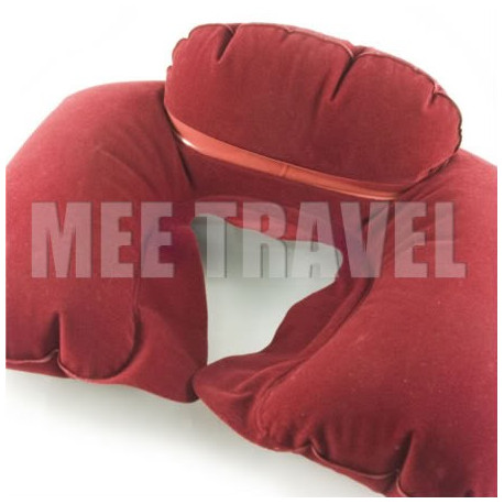 Flocked Neck Cushion Pillow (RED)
