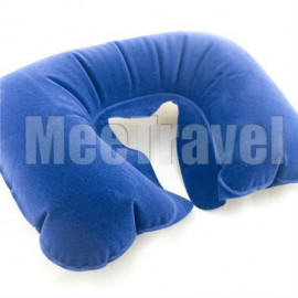 Flocked Travel Pillow (BLUE)