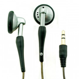 Silver 3.5mm 2M Long Cable Earphones for Apple iPod