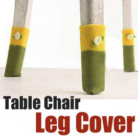 Set 4 Floral Table Chair Leg Foot Cover Floor Protector