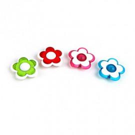 Set of 4 Rose Flower Memo Magnetic Refrigerator Magnets
