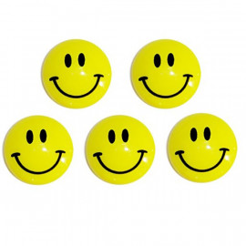 Set of 5 Smiley Memo Note Magnetic Refrigerator Magnets
