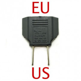 EU to US AC Power Socket Plug Adapter Travel Converter