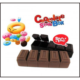 Chocolate Medicine Pill Drug Box Case Pillbox Organizer