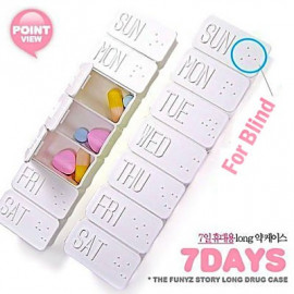 7-Day Blind Medicine Pill Drug Box Pillbox Case Pillbox