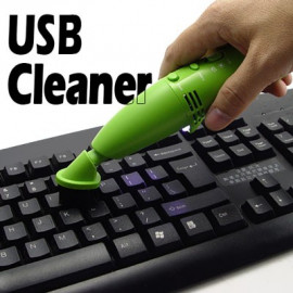 LED USB Vacuum Dust Key Cleaner for Mac Laptop Cell Phone
