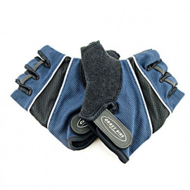 Padded Palm Half Finger Cycling Gloves Bike DARK BLUE