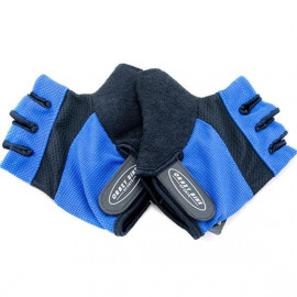 Gel Padded Palm Half Finger Cycling Gloves BLUE