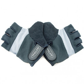 Gel Padded Palm Half Finger Cycling Gloves BLACK