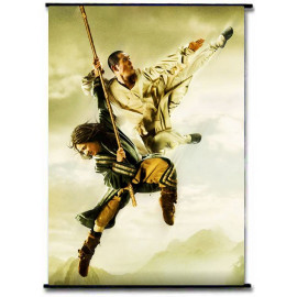 Jet Li Jackie Chan Movie Fabric Wallscroll Rods Poster