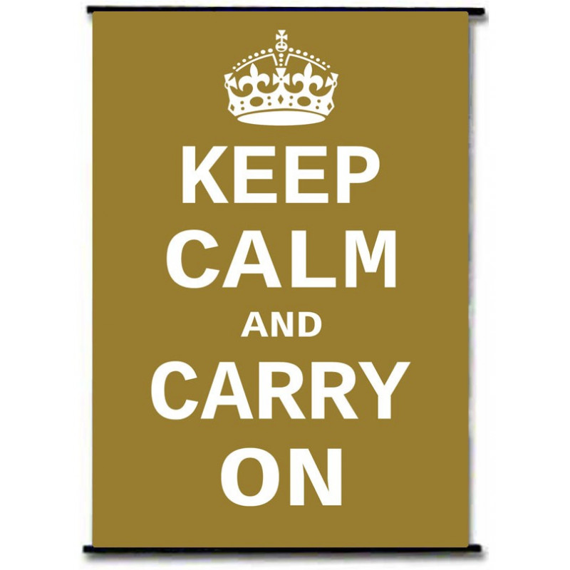 Perfect Keep Calm And Carry On Wall Art Motif - Wall Art Ideas ...