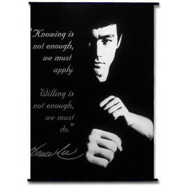 Bruce Lee Kung Fu Dragon Fabric Wallscroll Rods Poster