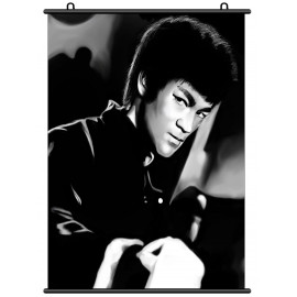 Bruce Lee Li Xiaolong Fung Fu Fabric Wall Scroll Poster