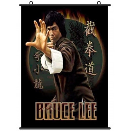Bruce Lee Li Xiaolong Jeet Kune Do Wall Scroll Poster