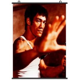 Bruce Lee Li Xiaolong Chinese Dragon Wall Scroll Poster