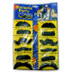 Lot 12 Black Fake Beard Mustache Facial Hair Costume