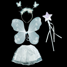 Set White Butterfly New Toddler Skirt Wing Mace Costume
