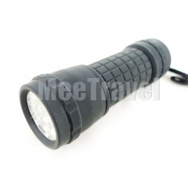 14 LED Waterproof Torch (Black)