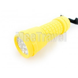14 LED Waterproof Torch (Yellow)