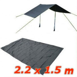 Waterproof Mat Tarp Tarpaulin Tent Shelter (BLACK)