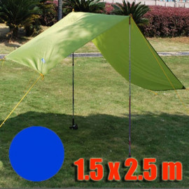 Tarp Tarpaulin Tent Shelter Heavy Duty S (ROYAL BLUE)
