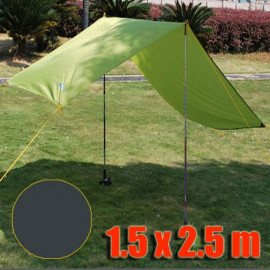 Tarp Tarpaulin Tent Shelter Heavy Duty S (DARK GREEN)