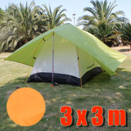 Tarp Tarpaulin Tent Shelter Heavy Duty L (ORANGE)