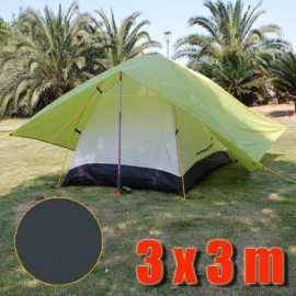 Tarp Tarpaulin Tent Shelter Heavy Duty L (DARK GREEN)