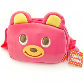 Japanese Kids Girl 3D Pink Bear Wallet Waist Belt Bag