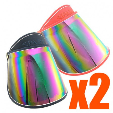 2x Sunlight UV Protection Reflective Mirror Visor (RED & BLUE)